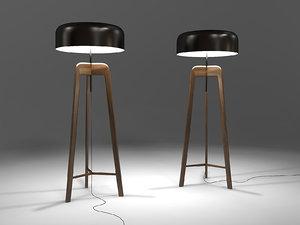 3d model porada pileo floor lamp