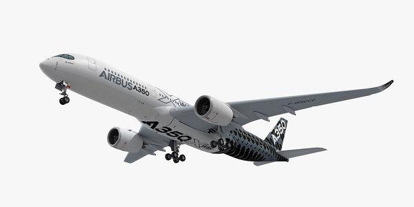 obj airbus a350-900 plane