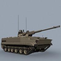 3d russian bmp-3 model