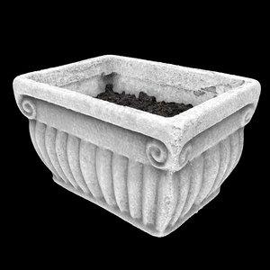 small flower pot 3d obj