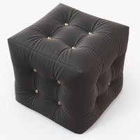 3d pouf black
