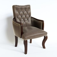 3d model berger armchair martine