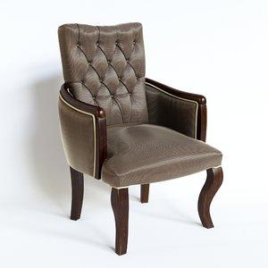 3d model berger armchair martine