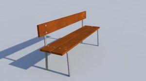 3d model garden park bench