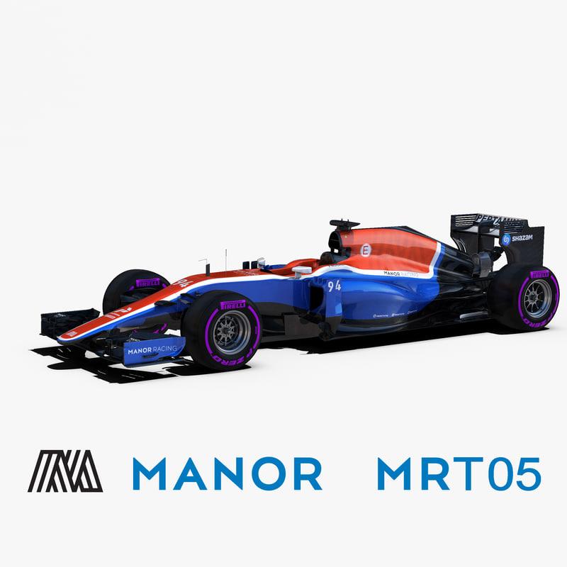 3d model manor mrt05 wheels