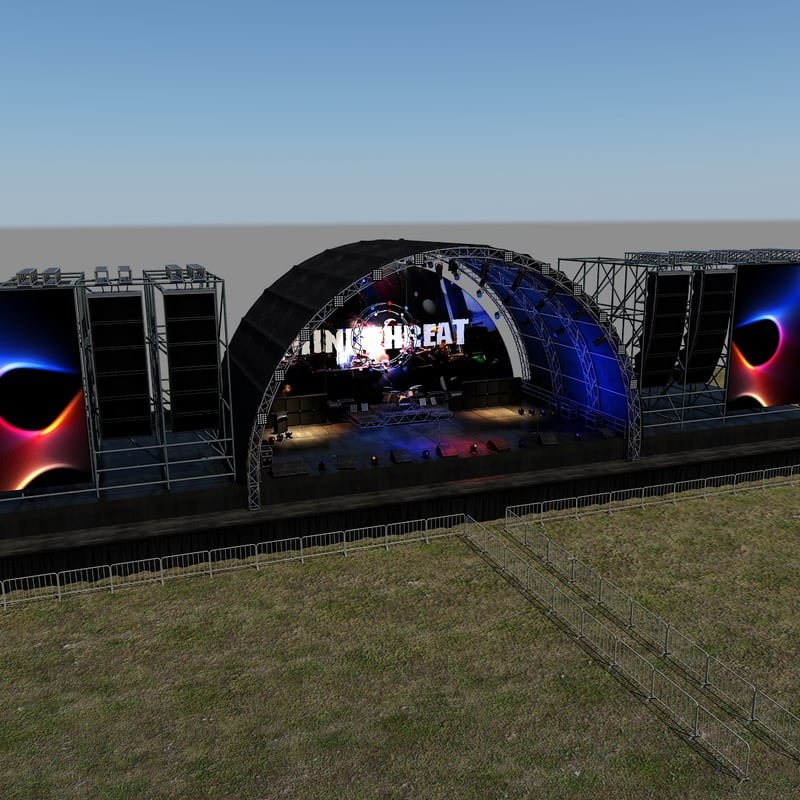 3d model of scene live stage lights