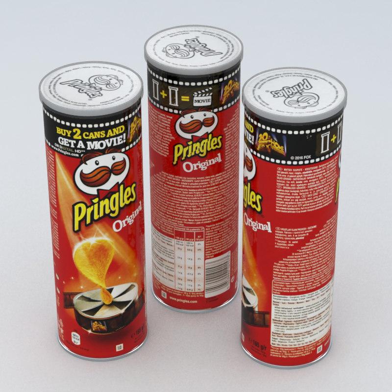 pringles original 165g 3d max