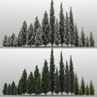 3d 20 trees