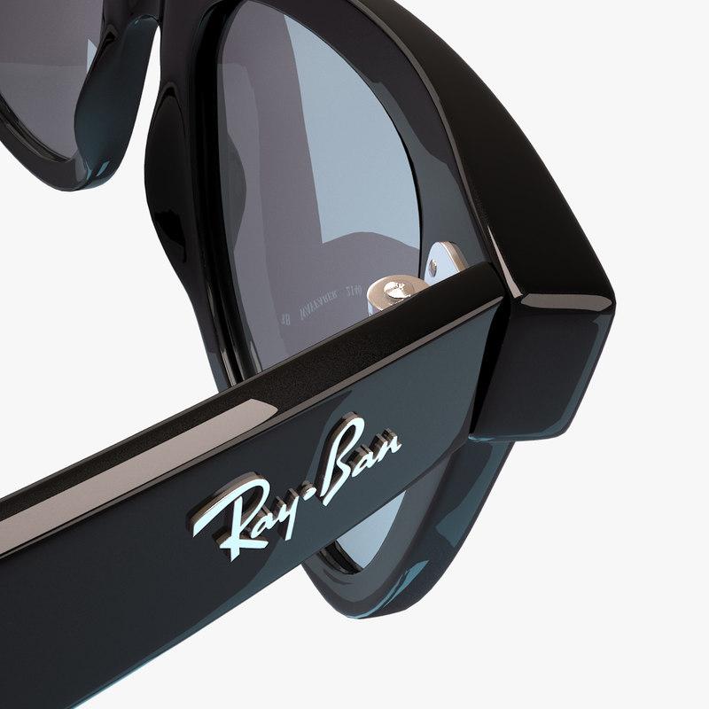 3d model sunglasses ban wayfarer rb2140