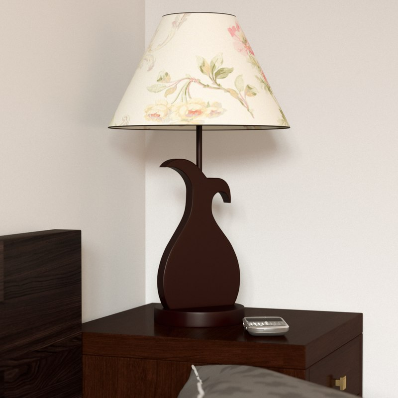 max table lamp rose