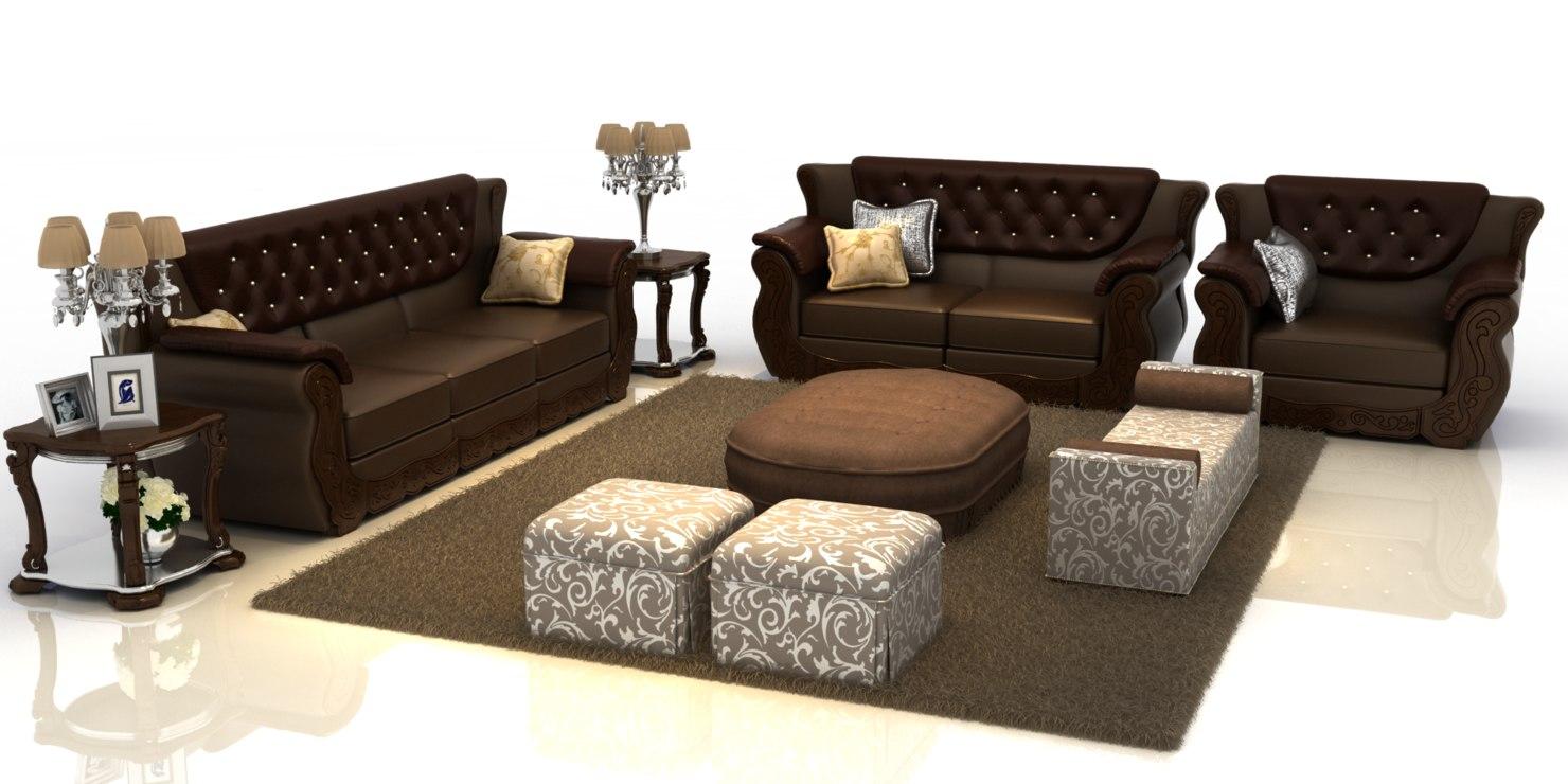 set sofa furniture 3d model