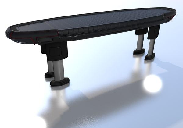 bench seats 3d model