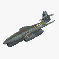 fighter aircraft messerschmitt 262 3d model