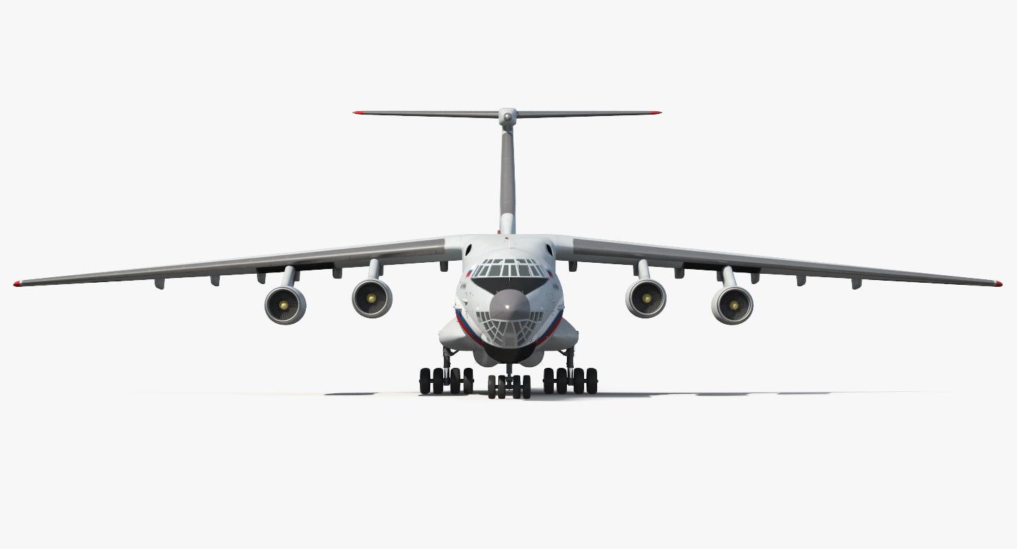 3d ilyushin il-76td s civilian model