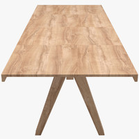 3d kettal vieques dining table