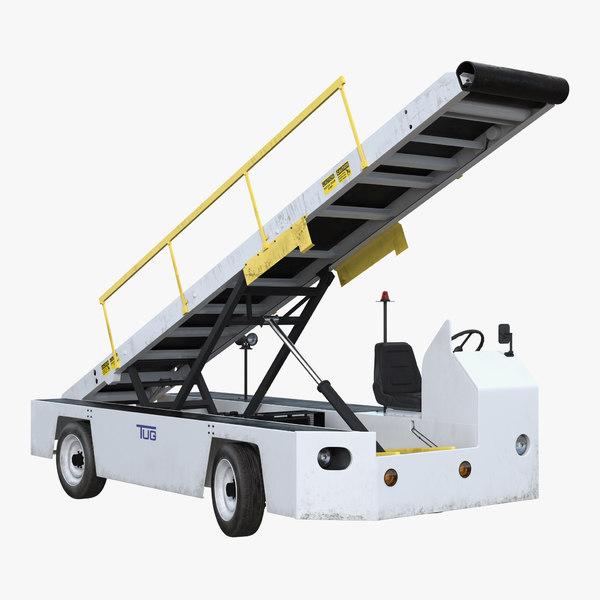 3d airport conveyor belt loader