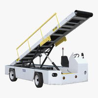 3d airport conveyor belt loader