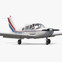 3d model civil utility aircraft piper