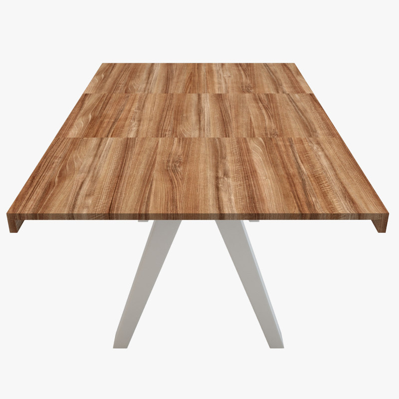 kettal vieques dining table 3d model
