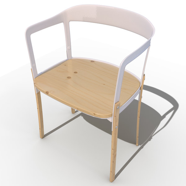 steelwood chair 3d model