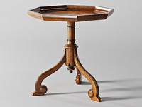 baker mahogany tripod table 3d model
