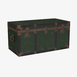 antique chest 3d model