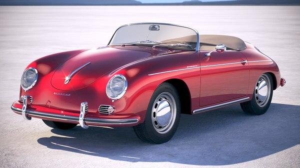 porsche 356 speedster 3d lwo