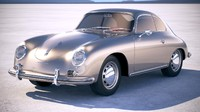 porsche 356a coupe 3ds