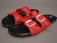pierre slipper sandals 3d obj