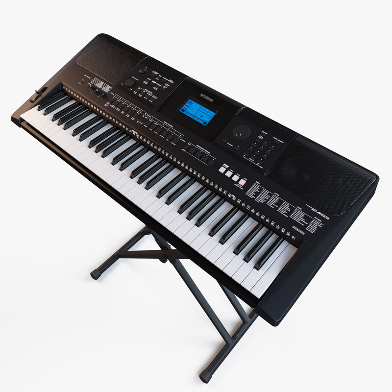 synthesizer yamaha psr e453 3d model. Black Bedroom Furniture Sets. Home Design Ideas