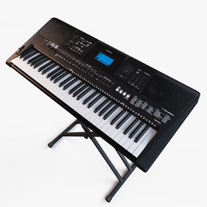 synthesizer yamaha psr-e453 3d model