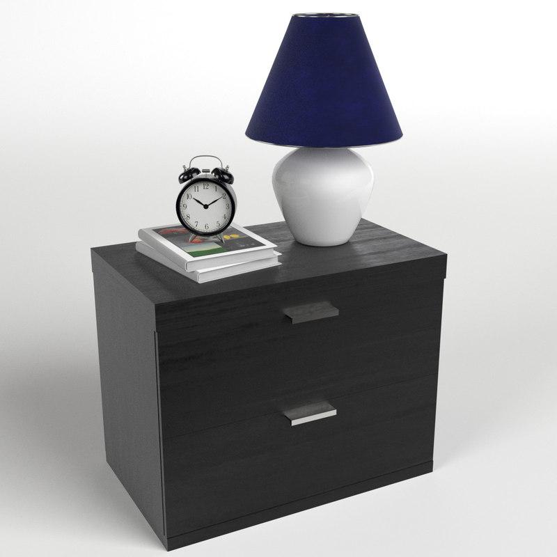 3d model bedside table set 1