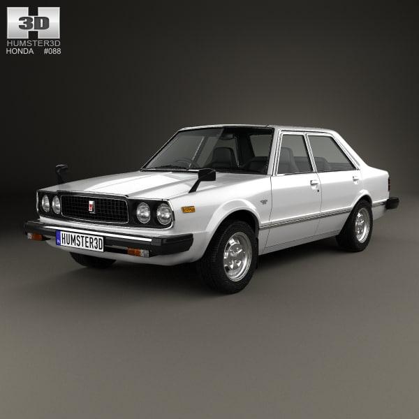 honda accord 1977 3d model