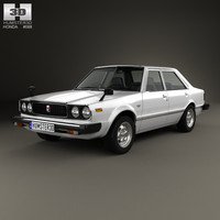 honda accord 1977 3d model