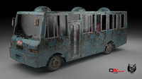 Rusty Bus-low poly (Asian)