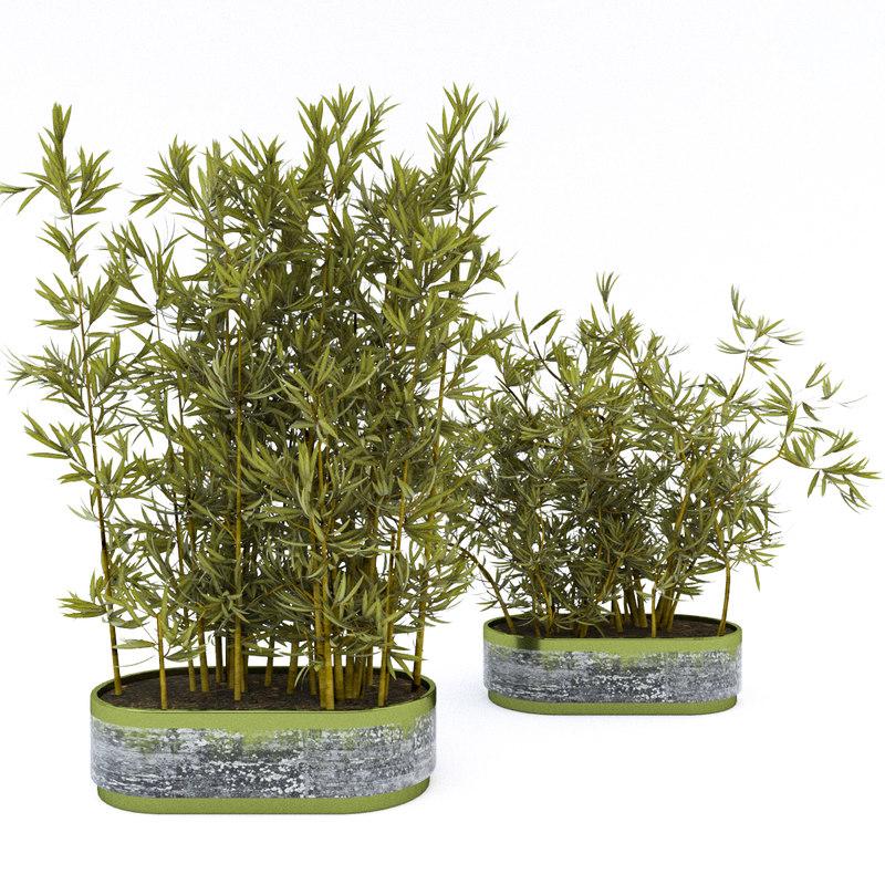 plants pots obj