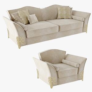 3d - sofa armchair