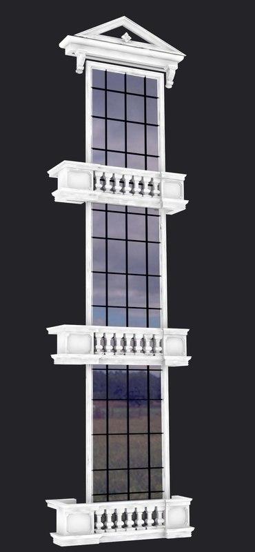 3d model window modeled classic