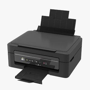 printer scanner combo 3d model