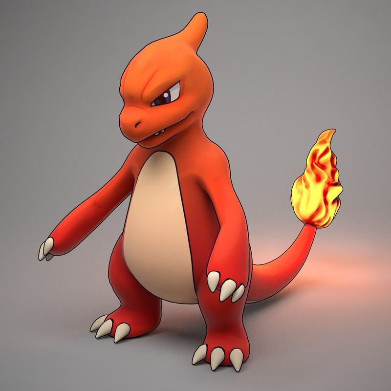 3d charmeleon pokemon model