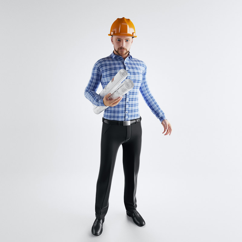 3d model architect
