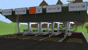 3d model toll gate