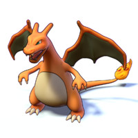 charizard pokemon 3d obj