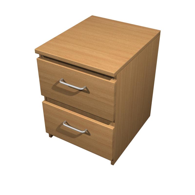 bedside locker 3d model