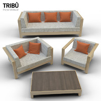 3d model pure sofa armchair tribu