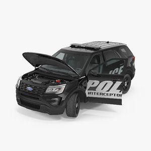 police interceptor unit 2016 3d model