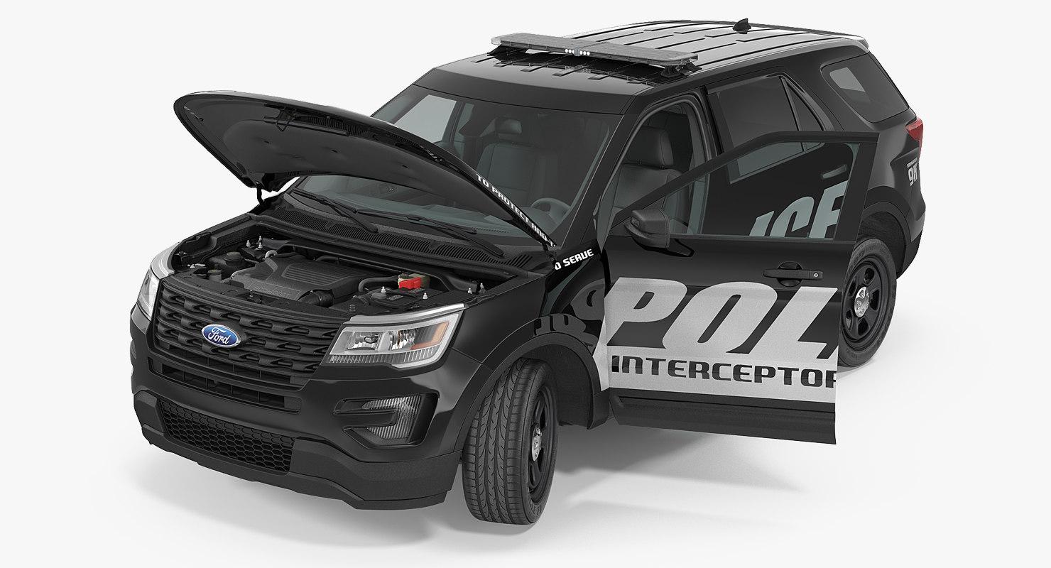 police interceptor unit 2016 3d model