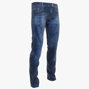 3d model of jeans blue