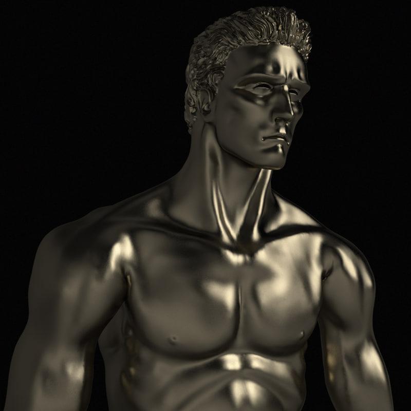 3d model statue man