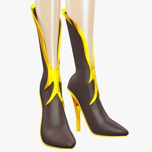 cartoon women s boots 3d 3ds